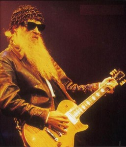 Billy Gibbons of ZZ Top playing a Tokai